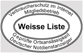 Schlüsseldienst - Weisse Liste