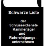 Schlüsselnotdienst - Schwarze Liste